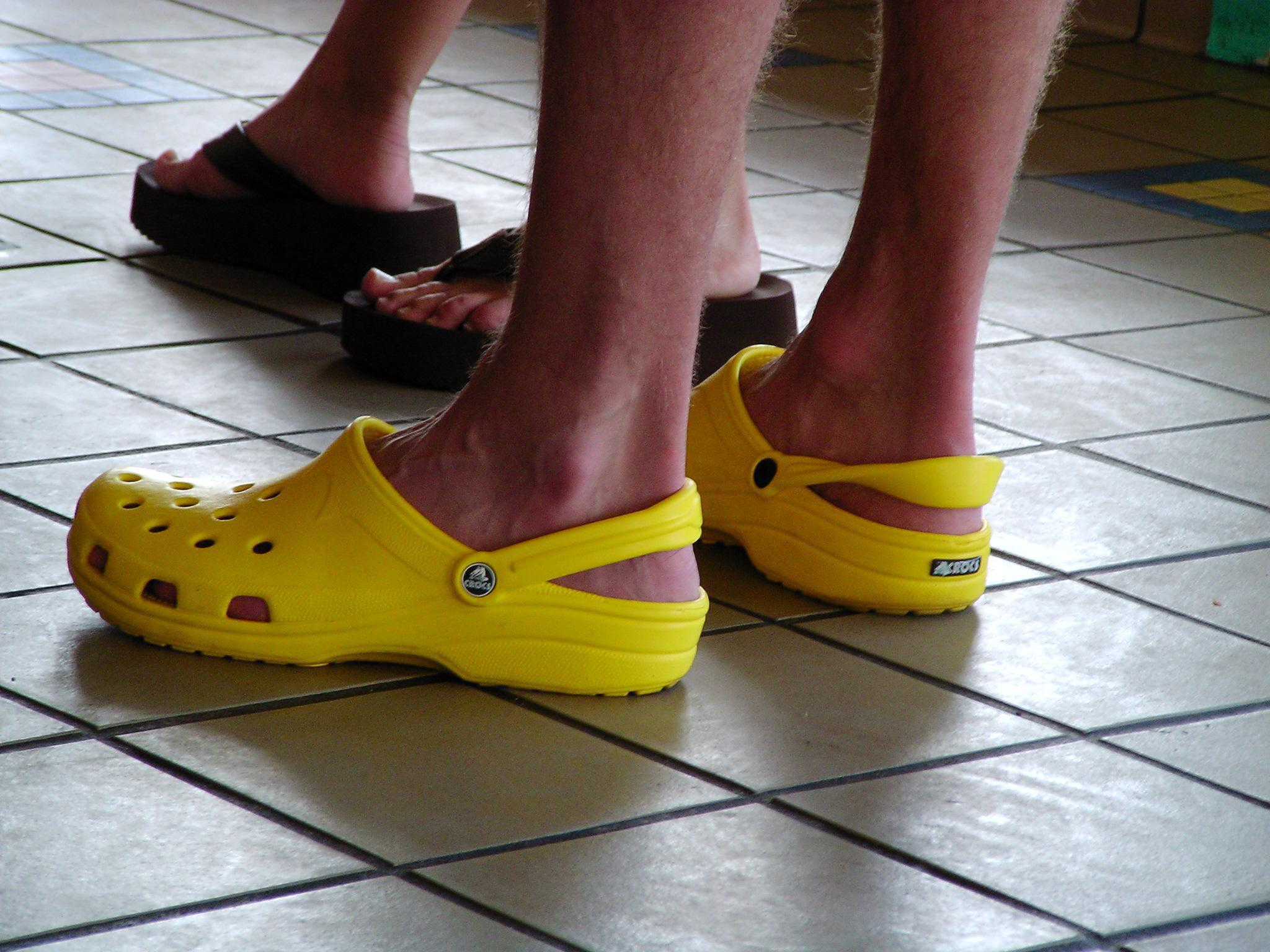 Yellow Beach Clogs
