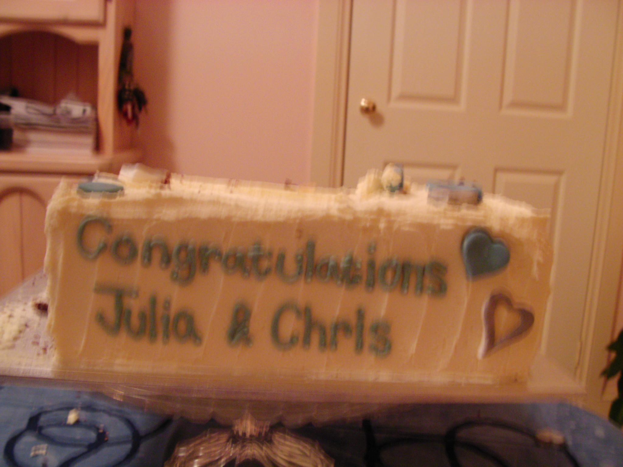 Congratulations Julie and Craig