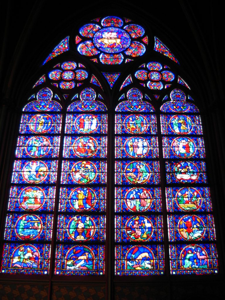 Stained Glass Window in Notre Dame