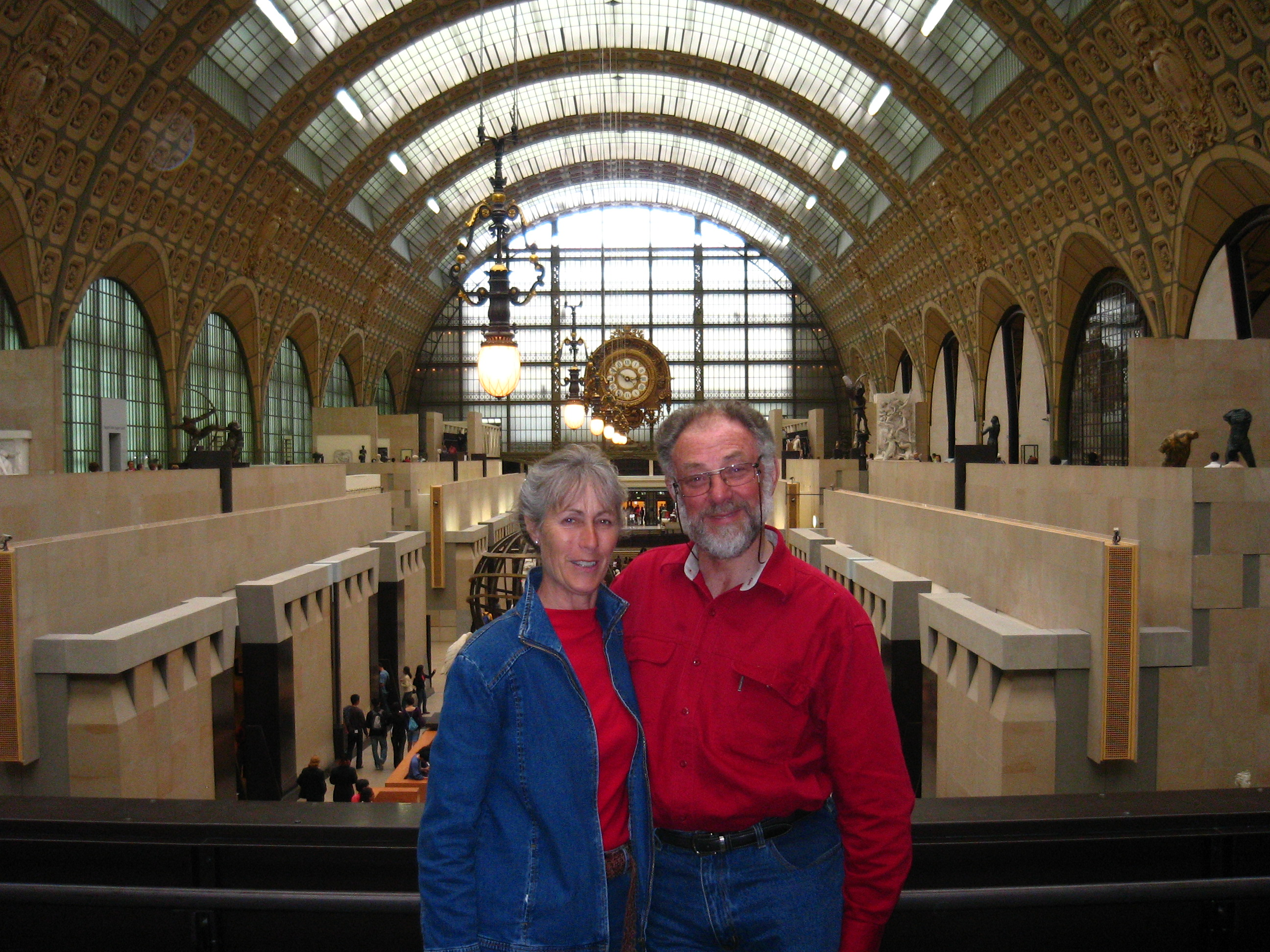 Mum and Peter at the Musee d'Orsay
