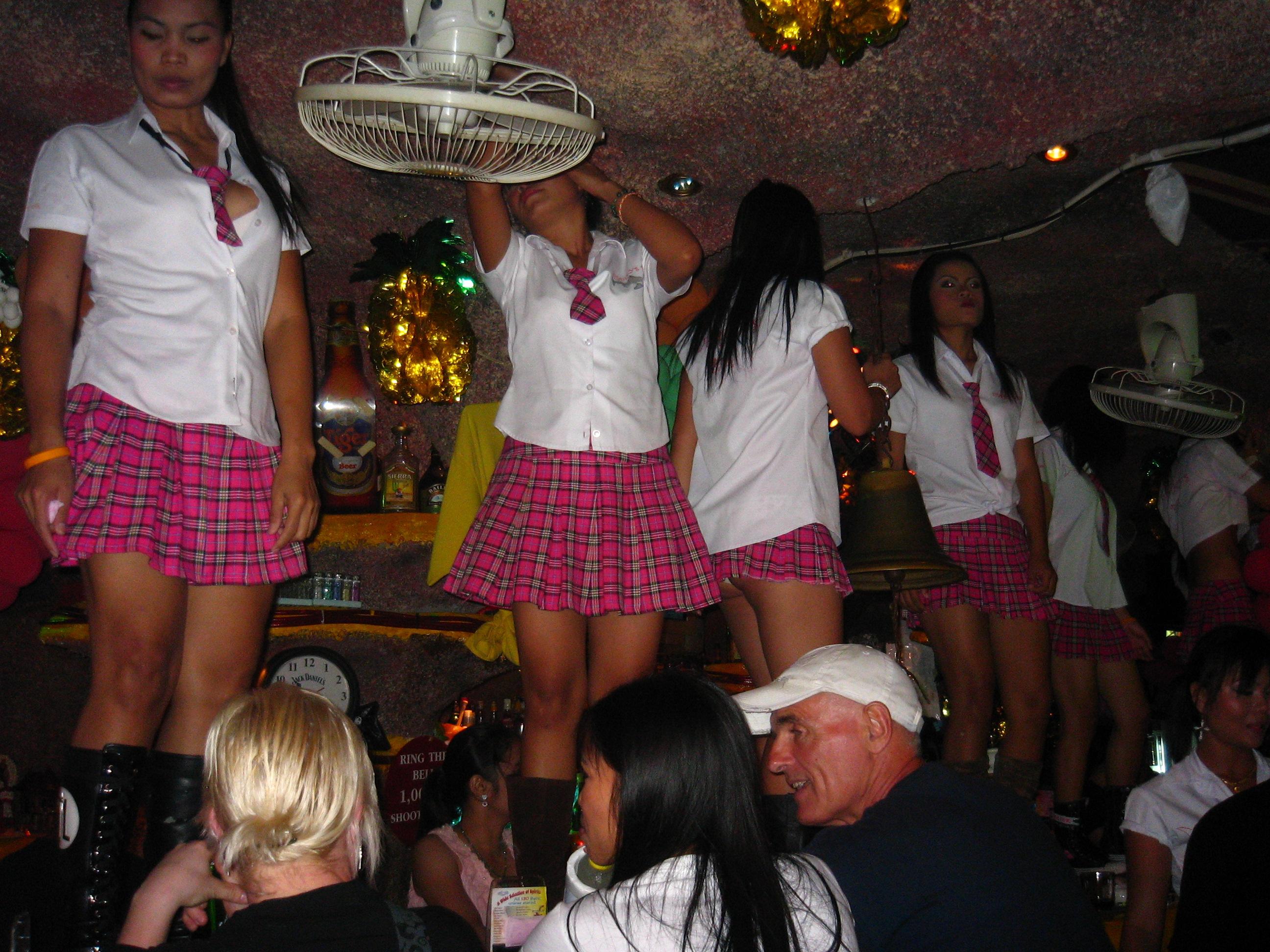 Bar-top Schoolgirls