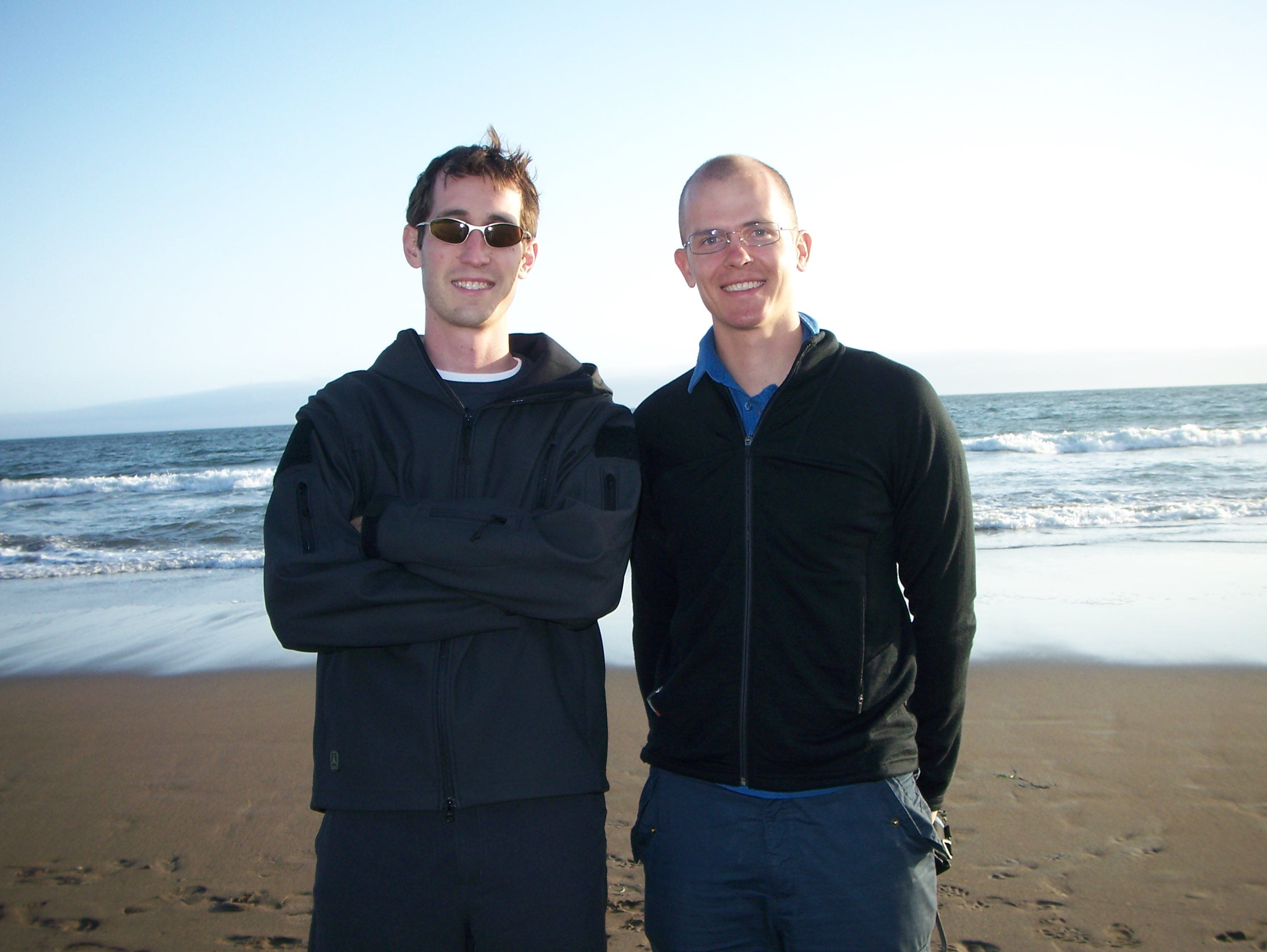 Me and DK at Stinson Beach