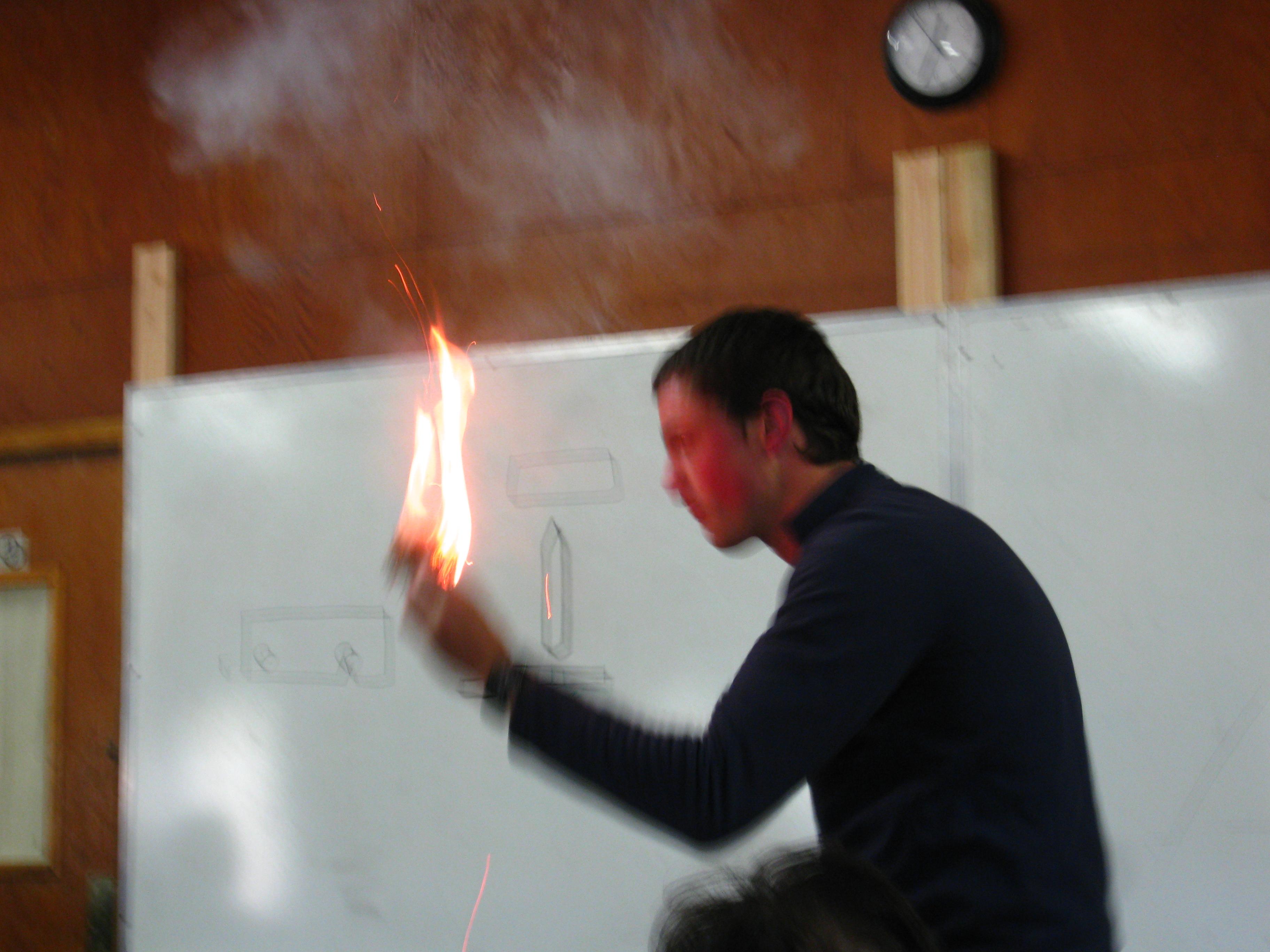 Classroom Fire!