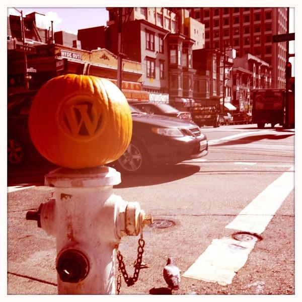 Ye Olde WordPress Pumpkin