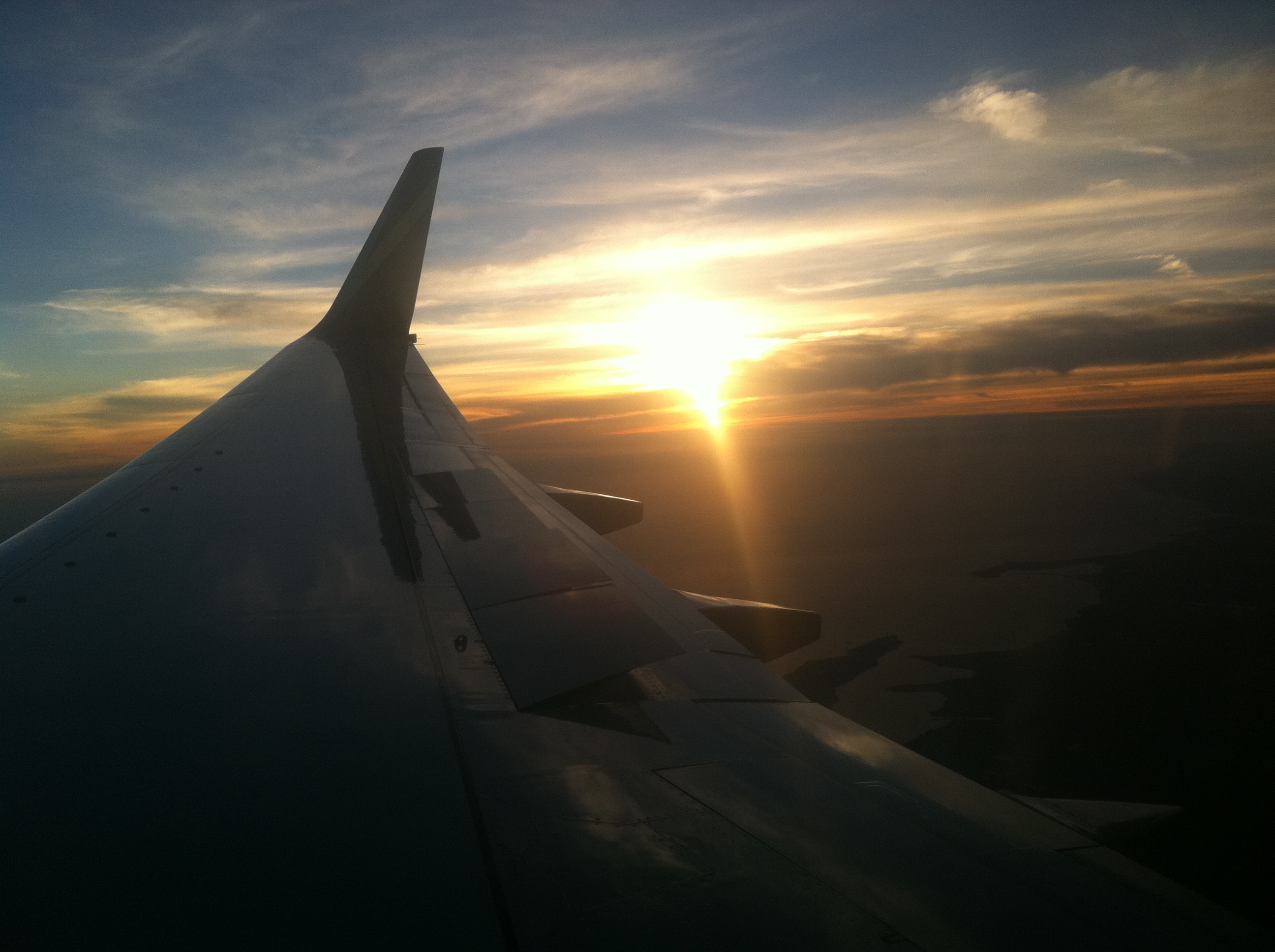 Flying out of the Sunset