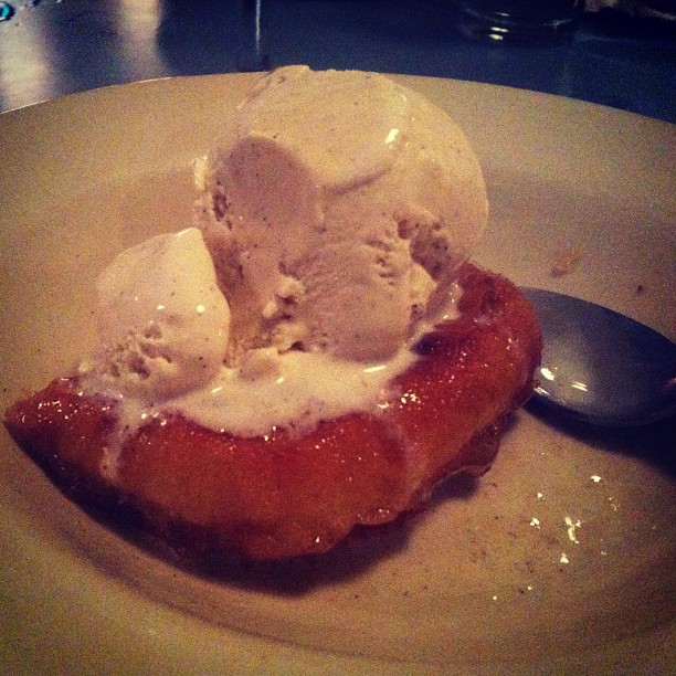 Ice cream. On top of a fried donut. OMG.