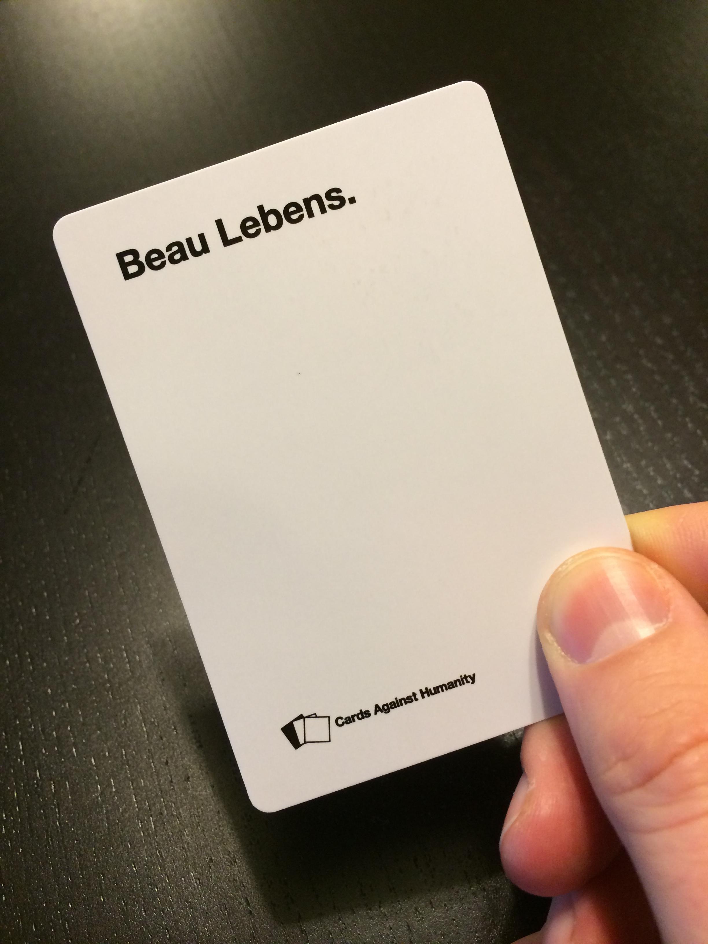 Cards Against Beau Lebens