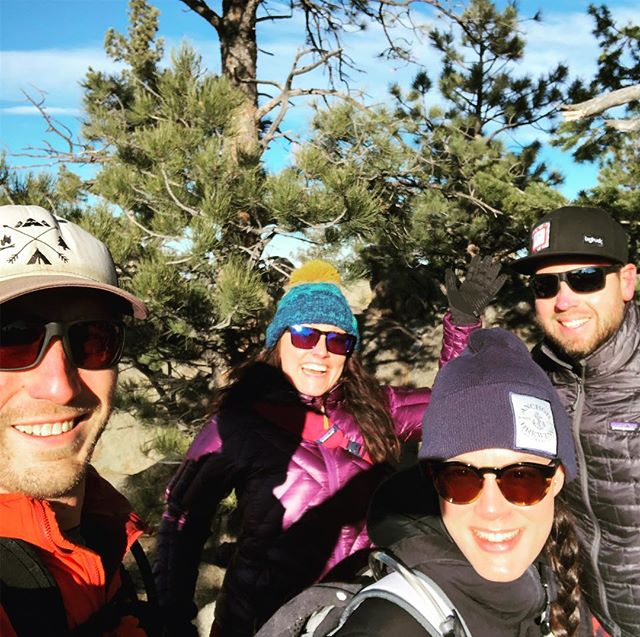 #optoutside with friends, even if there are gusts of wind 60mph and it's around freezing!