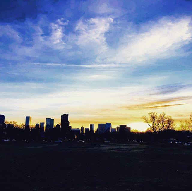 Denver Sunset. #djimavicair #drone