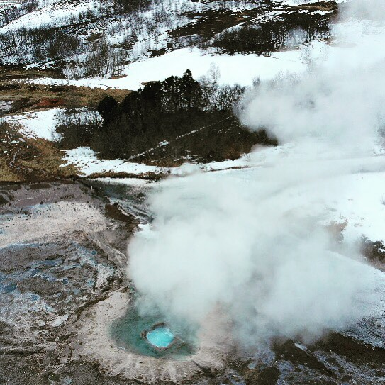 Geysir from above. #iceland #drone #dronephotography #dronestagram #djimavicair
