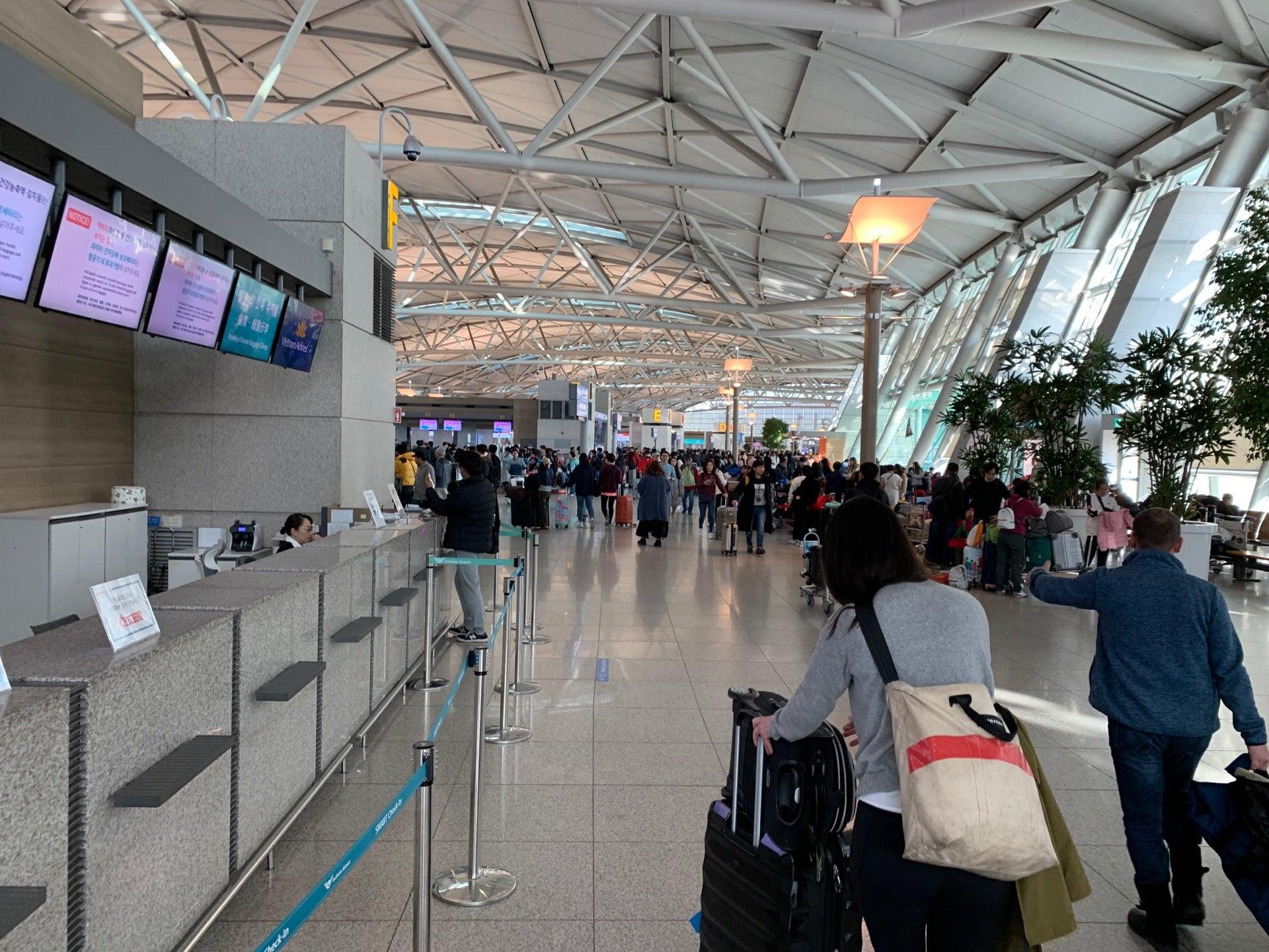 Checked in at Incheon international Airport Terminal1 (인천국제공항 제1여객터미널)